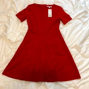 UNIQLO - Short Sleeved Red Dress - XSMALL